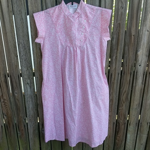 maternity Dresses & Skirts - Vtg Maternity Dress M L Pink MuMu Baby 80s USA
